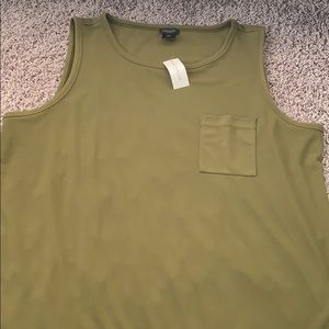 NWT tank top with front pocket